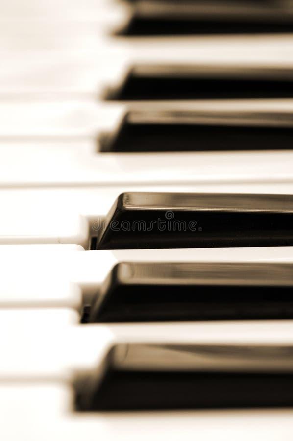 Pianot stämm closeupen arkivbilder