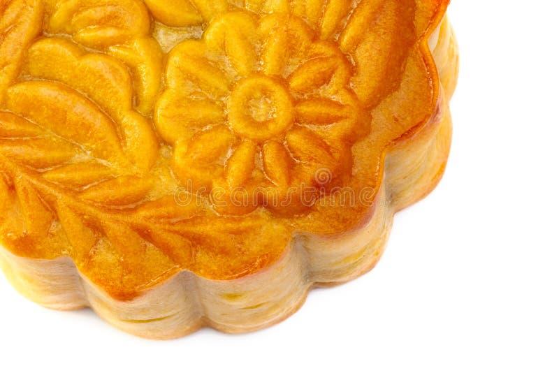 closeupen isolerade mooncakes royaltyfri bild