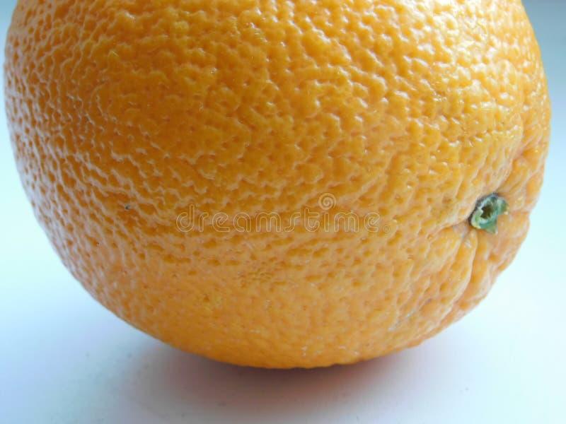 Closeupfoto av orange hud arkivfoto