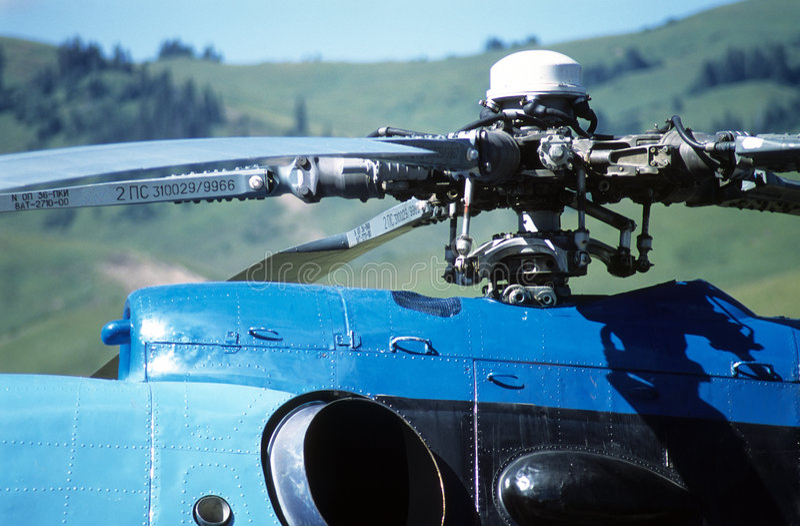 Closeuphelikopter Royaltyfri Fotografi