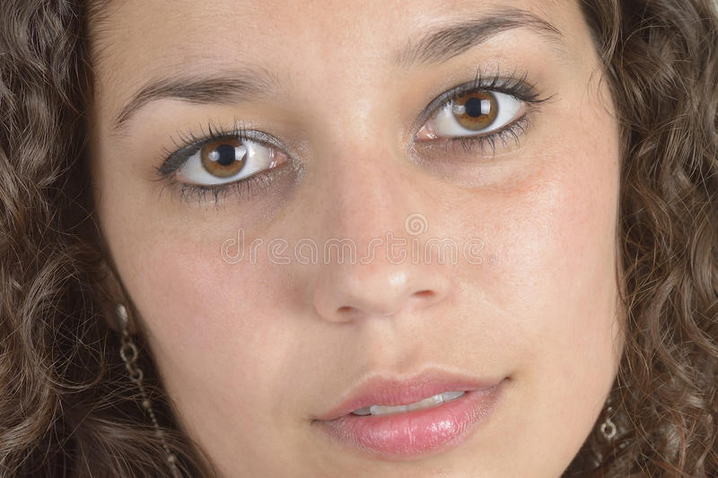 Closeuplatinflicka arkivfoto