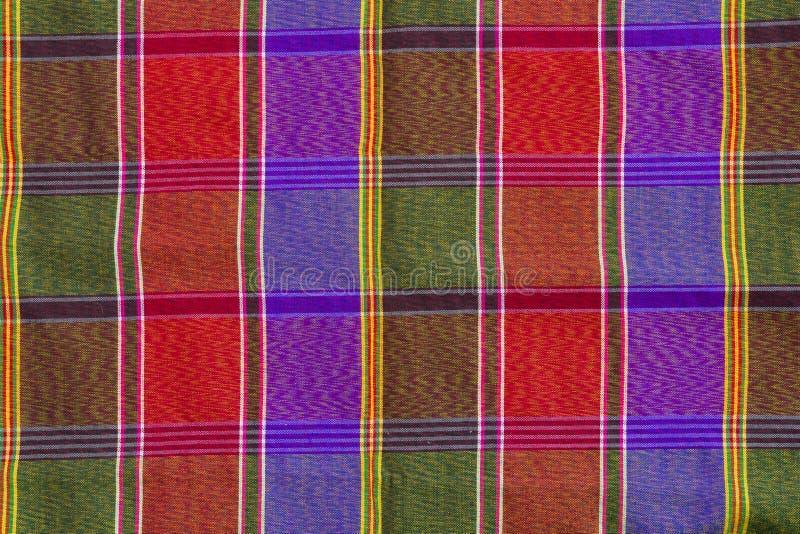 Closeupmodell och textur av thaien för tyg för höftskynskeplädkontroll royaltyfria bilder