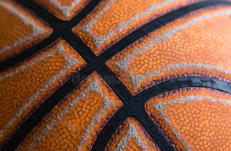 Closeupsikt av gammal textur för basketkorgboll royaltyfri bild