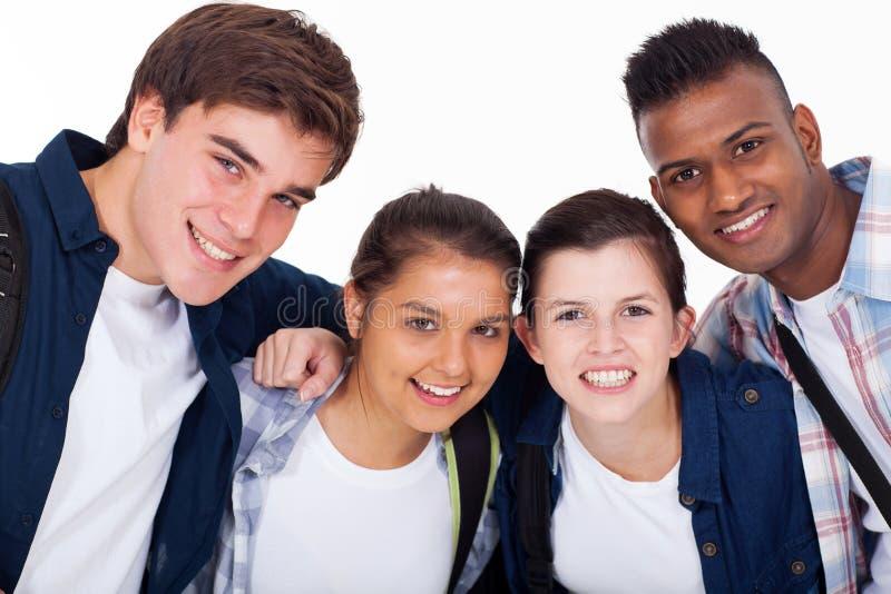 Closeupskolastudenter arkivbilder