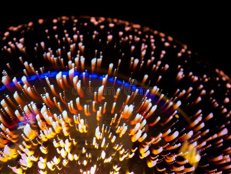 Closeupskugga av en cristal lampa som ser som fyrverkerier royaltyfri fotografi