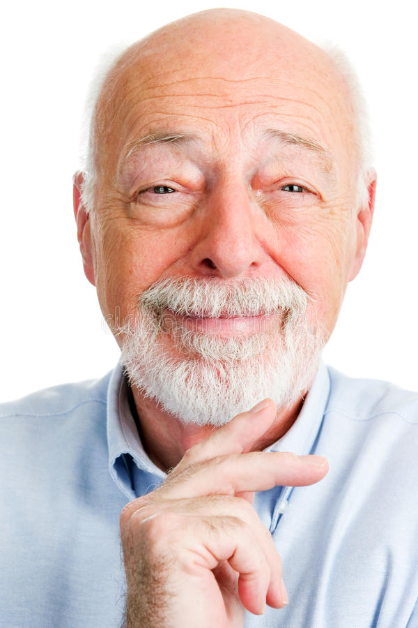 Closeupstående av att le den höga mannen fotografering för bildbyråer