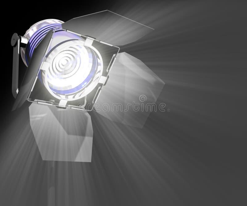 closeupstrålkastare vektor illustrationer