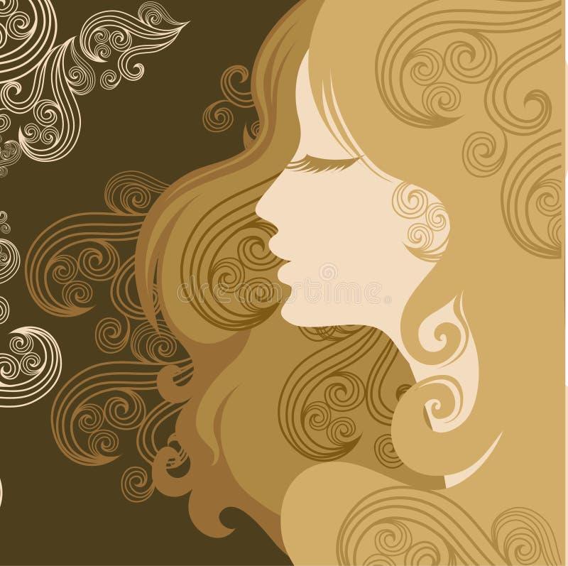 closeuptappningkvinna stock illustrationer