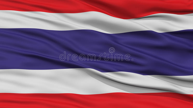 CloseupThailand flagga stock illustrationer
