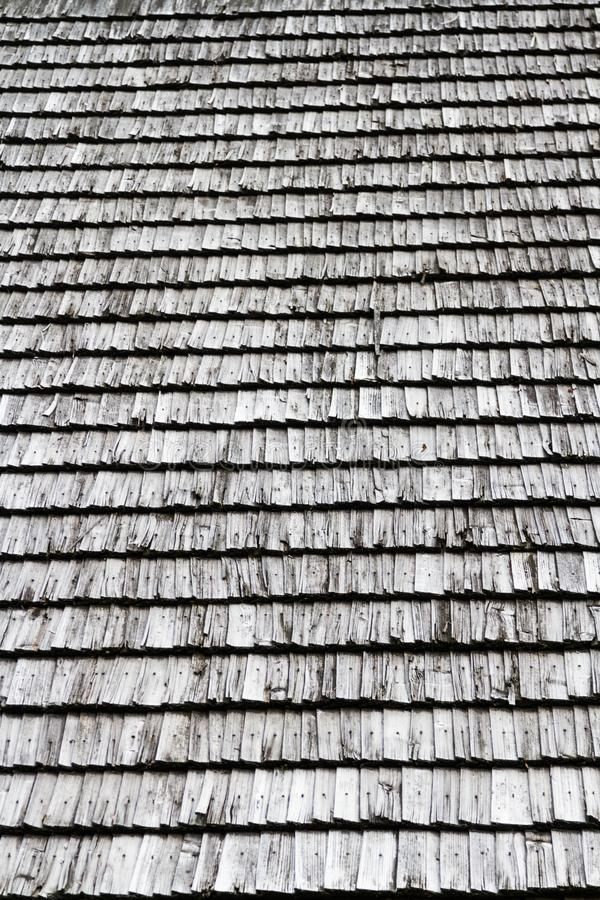 Closeuse Texture du toit en bois foncé image stock