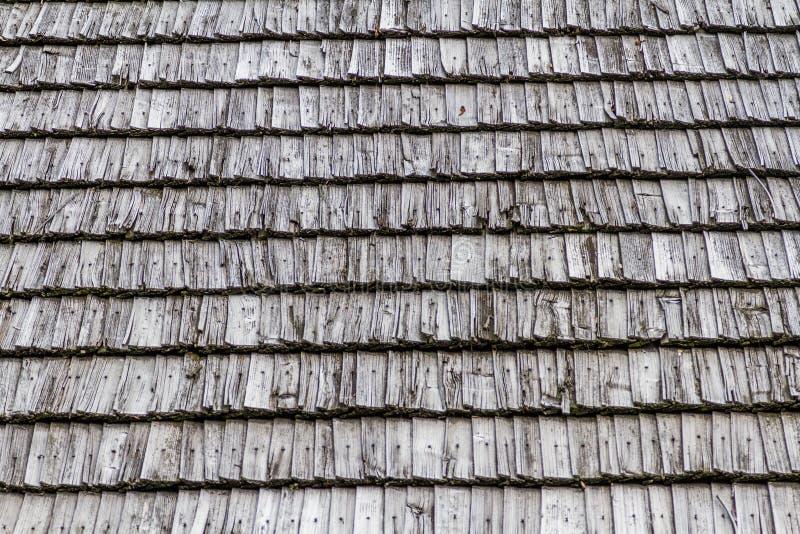 Closeuse Texture du toit en bois foncé photographie stock