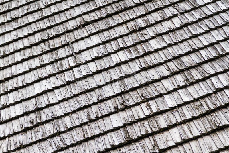 Closeuse Texture du toit en bois foncé image libre de droits