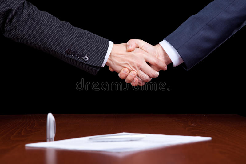 Closing the contract stock images