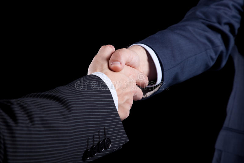 Closing the contract stock image