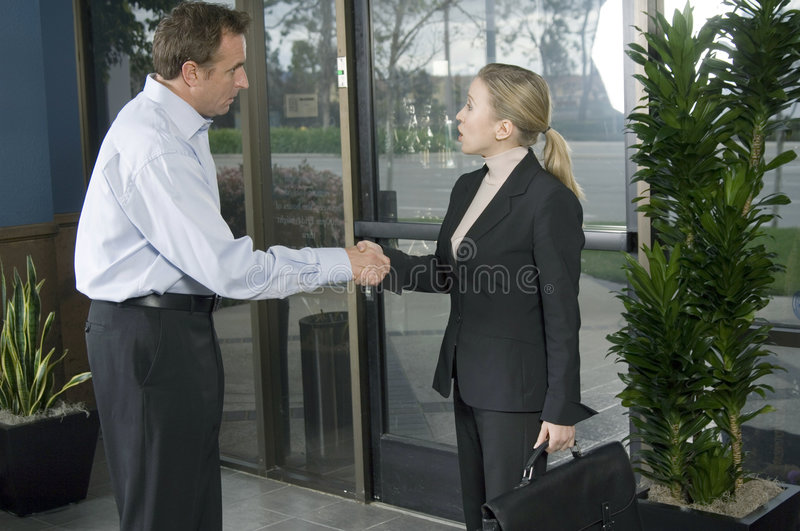 Closing the deal stock photography