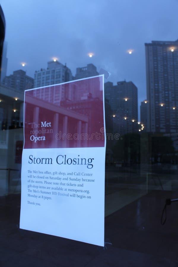 Closing della Irene di uragano fotografia stock libera da diritti