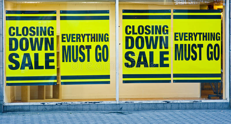 Closing down: effects of recession. stock photo