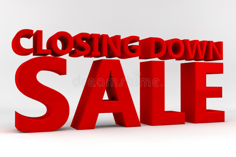 Download Closing Down Sale stock illustration. Illustration of market - 24943090