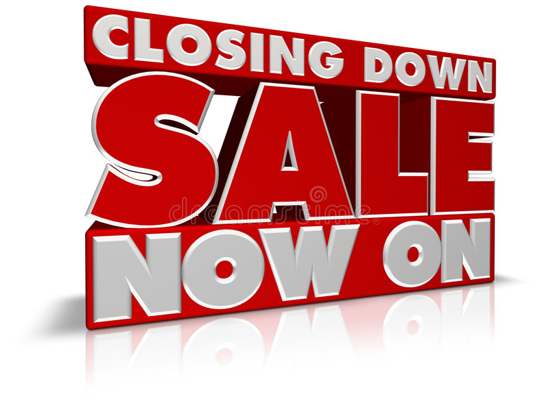 Closing Down Sale Now On. Very large SUMMER SALE NOW ON 3D type perfect for banners, leaflets, point of pale and posters. Created in Cinema4D