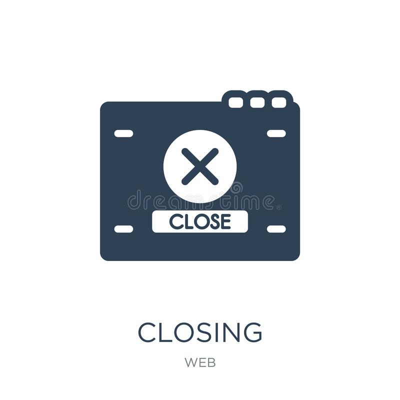 closing icon in trendy design style. closing icon isolated on white background. closing vector icon simple and modern flat symbol stock illustration