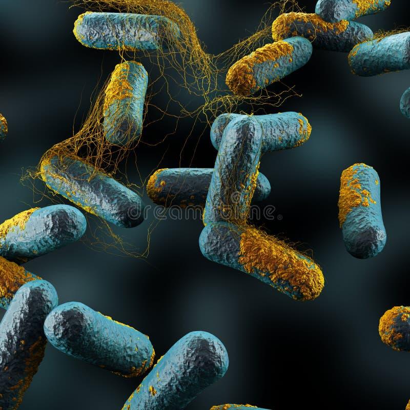 Clostridium- Perfringensbakterien vektor abbildung