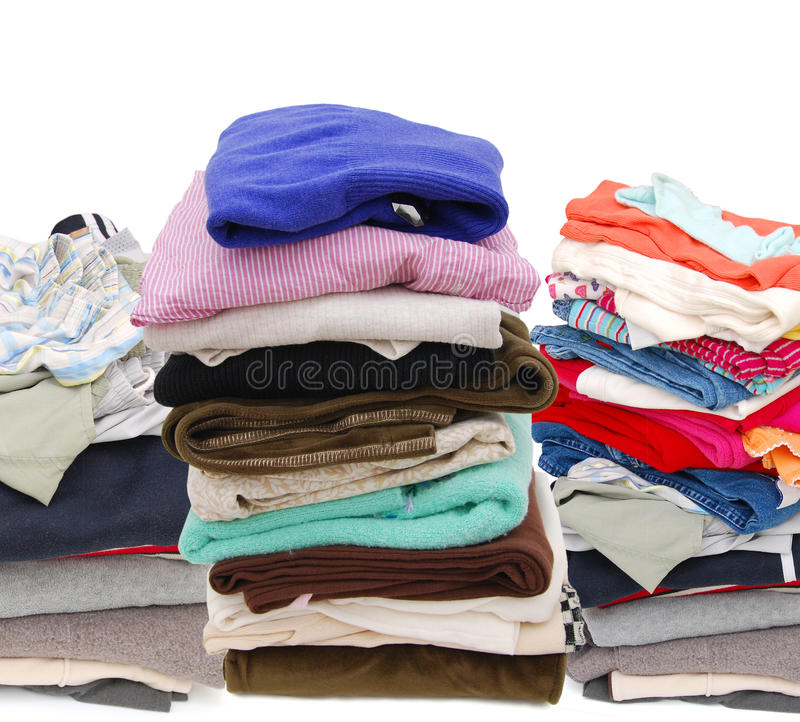 Cloth. A family clothing on donation gift royalty free stock image