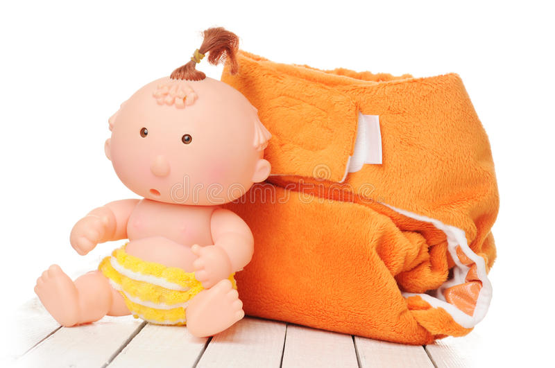 Download Cloth diaper stock image. Image of isolated, baby, nappy - 23747915