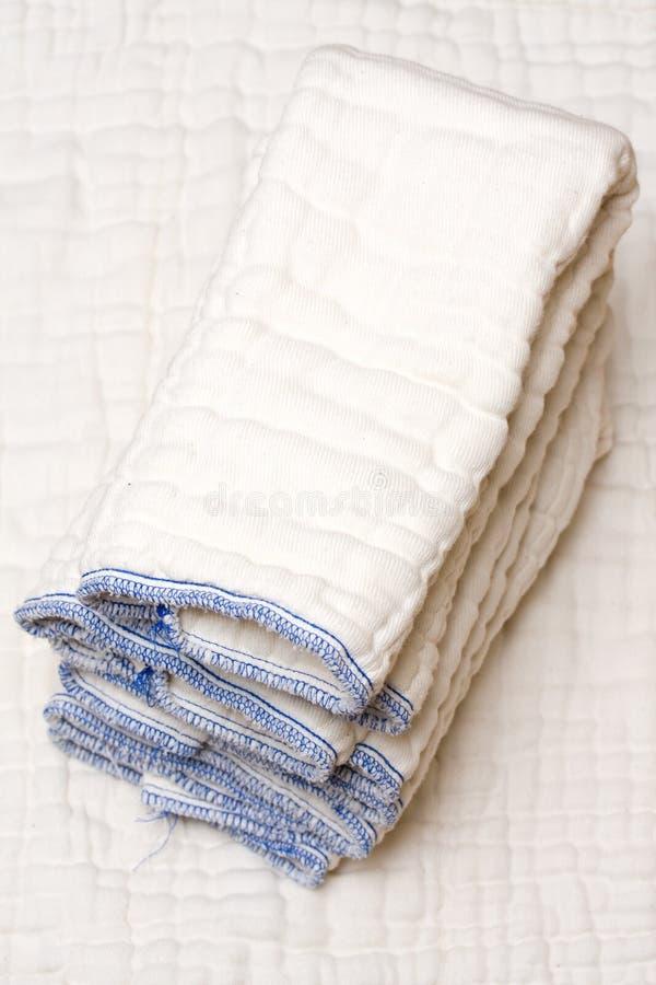 Cloth diapers stock photos