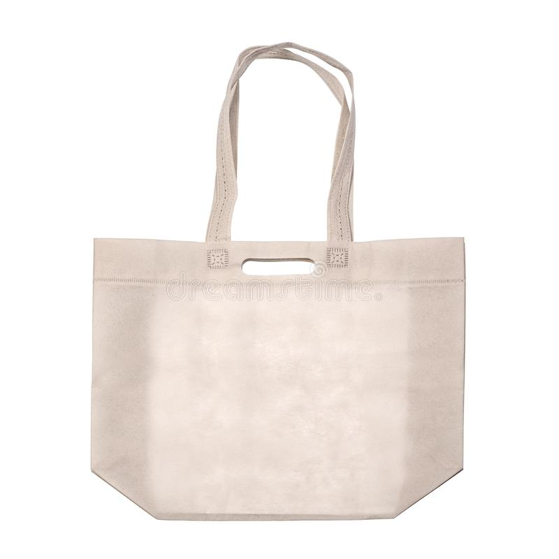 Cloth eco bag blank. Or cotton yarn cloth bags, empty bags isolated on white,  with clipping path royalty free stock image