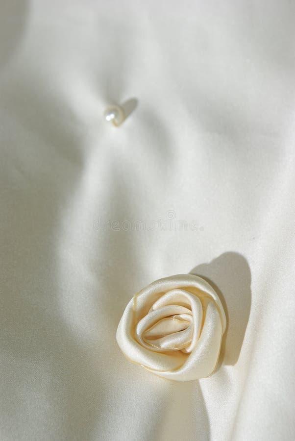Download Cloth Flower On Wedding Veil Stock Photo - Image: 10582204