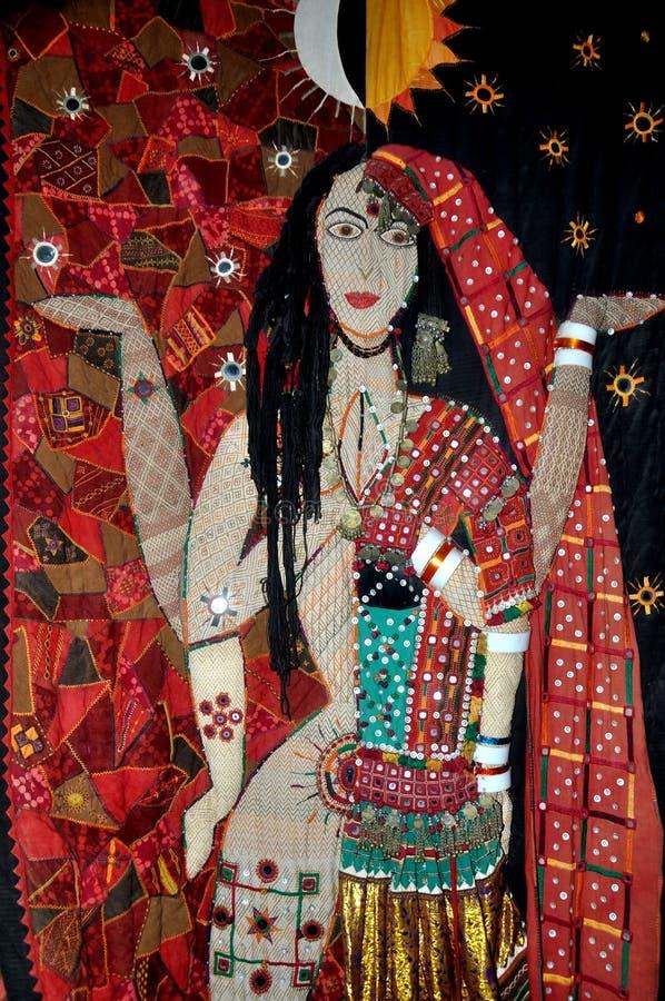 Cloth handicraft embroidery design. North indian cloth handicraft embroidery design stock images
