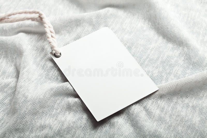 Cloth Label Blank Whie Mockup Stock Photo  Image Of Template
