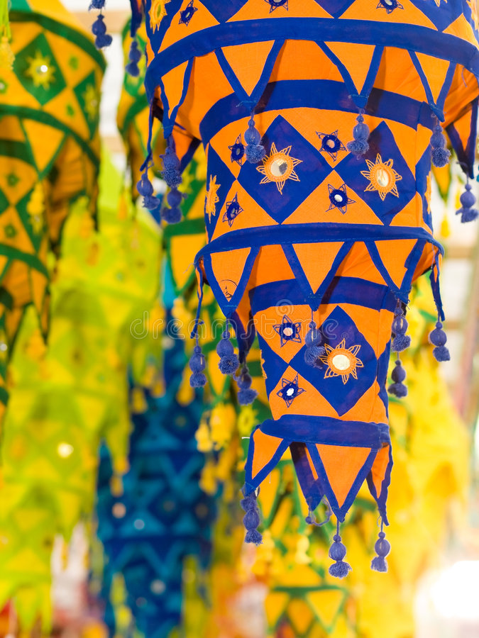 Download Cloth Lanterns stock photo. Image of colorful, crafts - 6604332