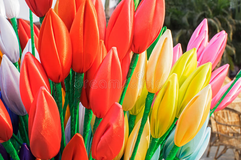 Download Cloth Made Tulip Flowers, Handicraft Items On Display , Kolkata Stock Image - Image: 83703717