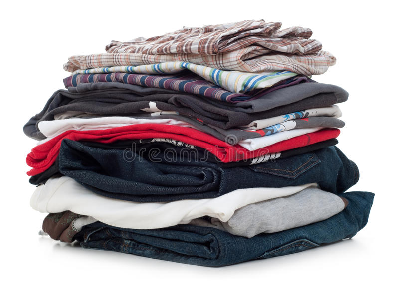 Download Cloth pile stock photo. Image of casual, clothes, colors - 9637954
