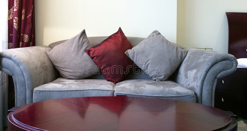 Download Cloth Sofa stock photo. Image of down, elegant, cushion - 6538880