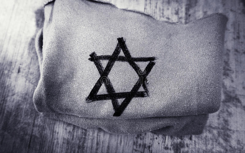 Cloth with the star of David stock photography
