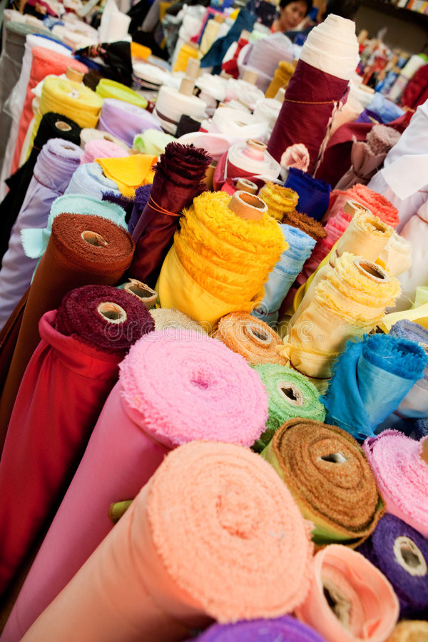 Download Cloth Store stock image. Image of roll, color, colorful - 8628273