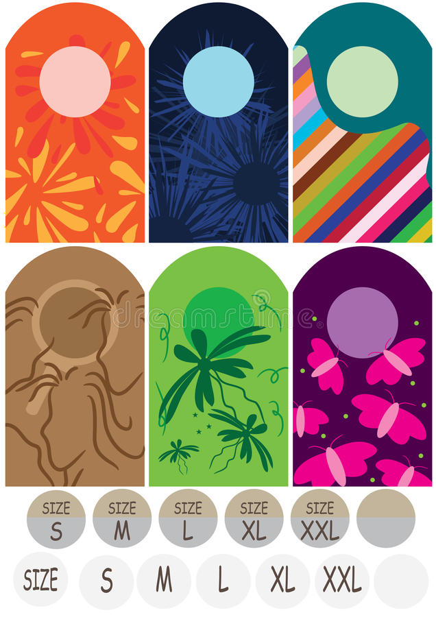 Download Cloth Tag Size_eps stock vector. Image of backdrop, business - 19697571