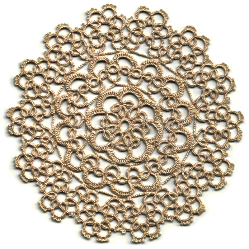 Free Cloth, Tatted Lace Doily Royalty Free Stock Photography - 1999937