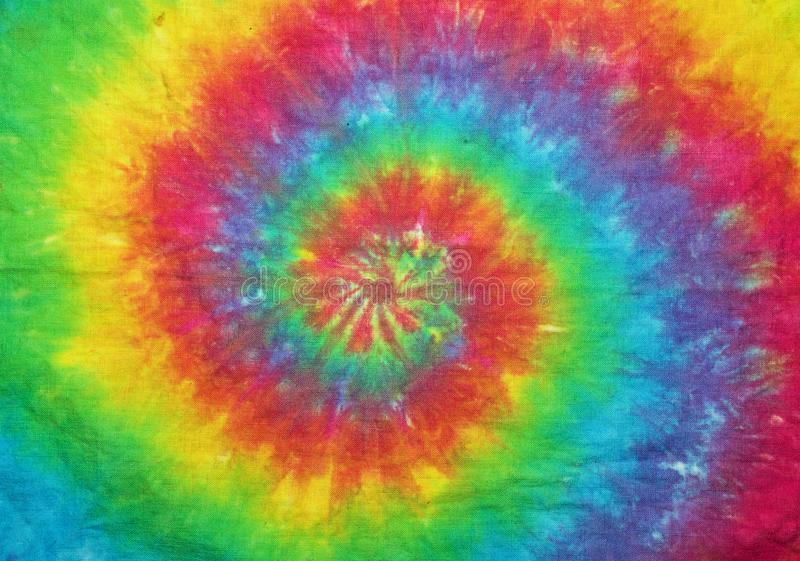 Tie Dyed Spiral Rainbow royalty free stock photos