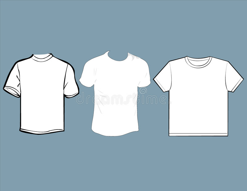 Clothes. Simple desighn of clothes good for blaks for making variations of stamps and prints stock illustration