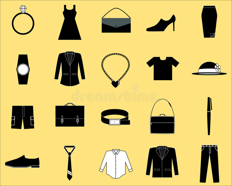 Clothes and accessories icon royalty free stock photography