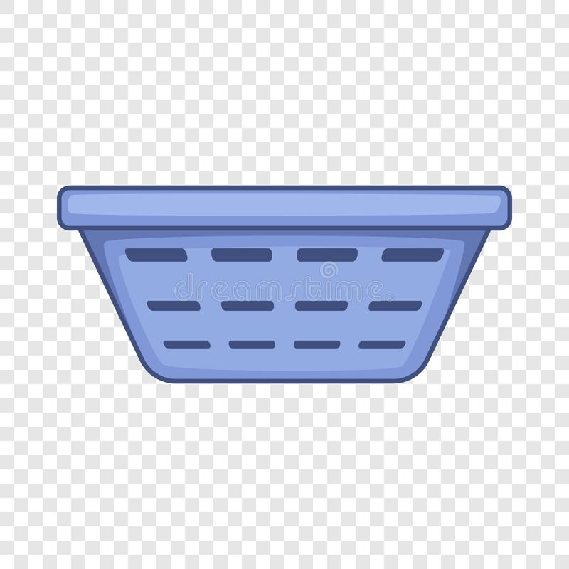 Clothes basket icon, cartoon style. Clothes basket icon. Cartoon illustration of clothes basket vector icon for web design stock illustration