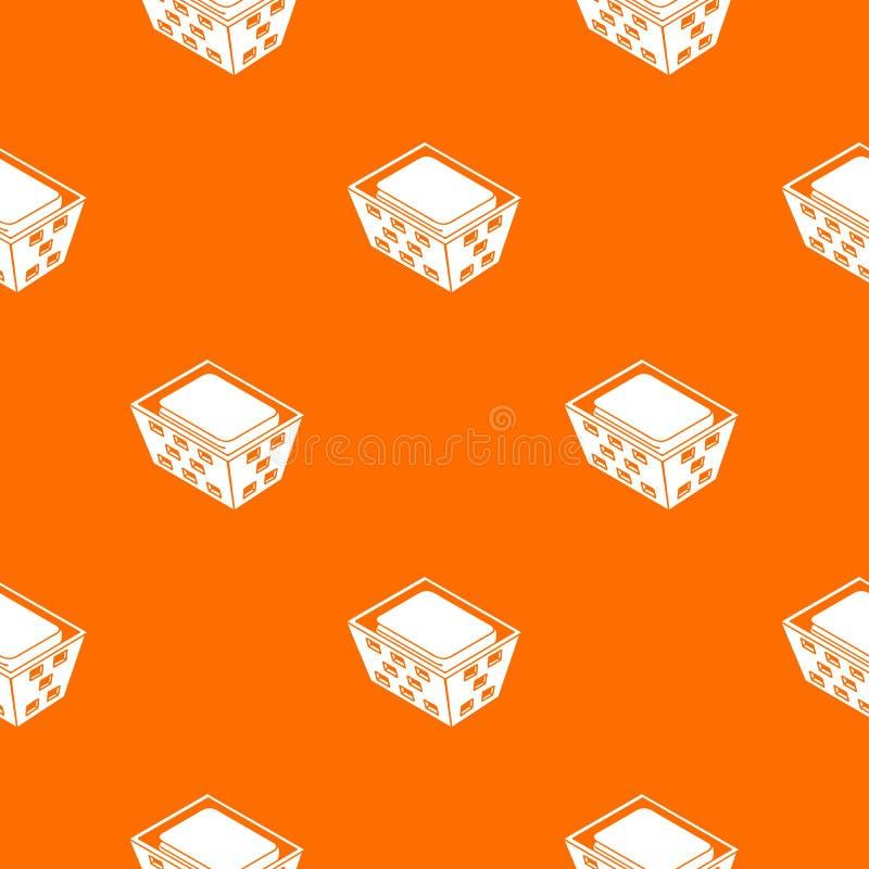 Clothes in basket pattern vector orange. For any web design best royalty free illustration