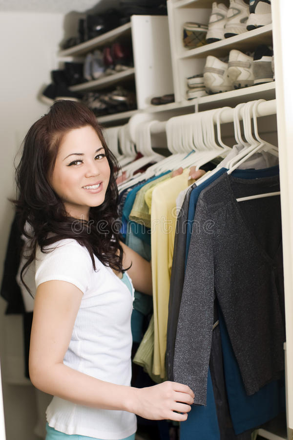 Download Clothes in closet stock photo. Image of female, hung - 10048958