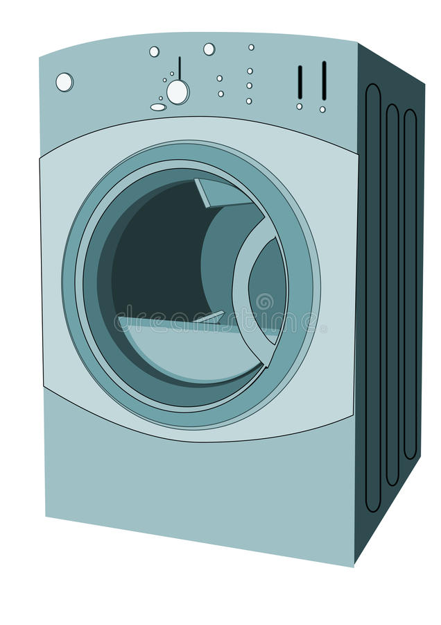 Download Clothes dryer stock illustration. Image of domestic, washing - 40448284