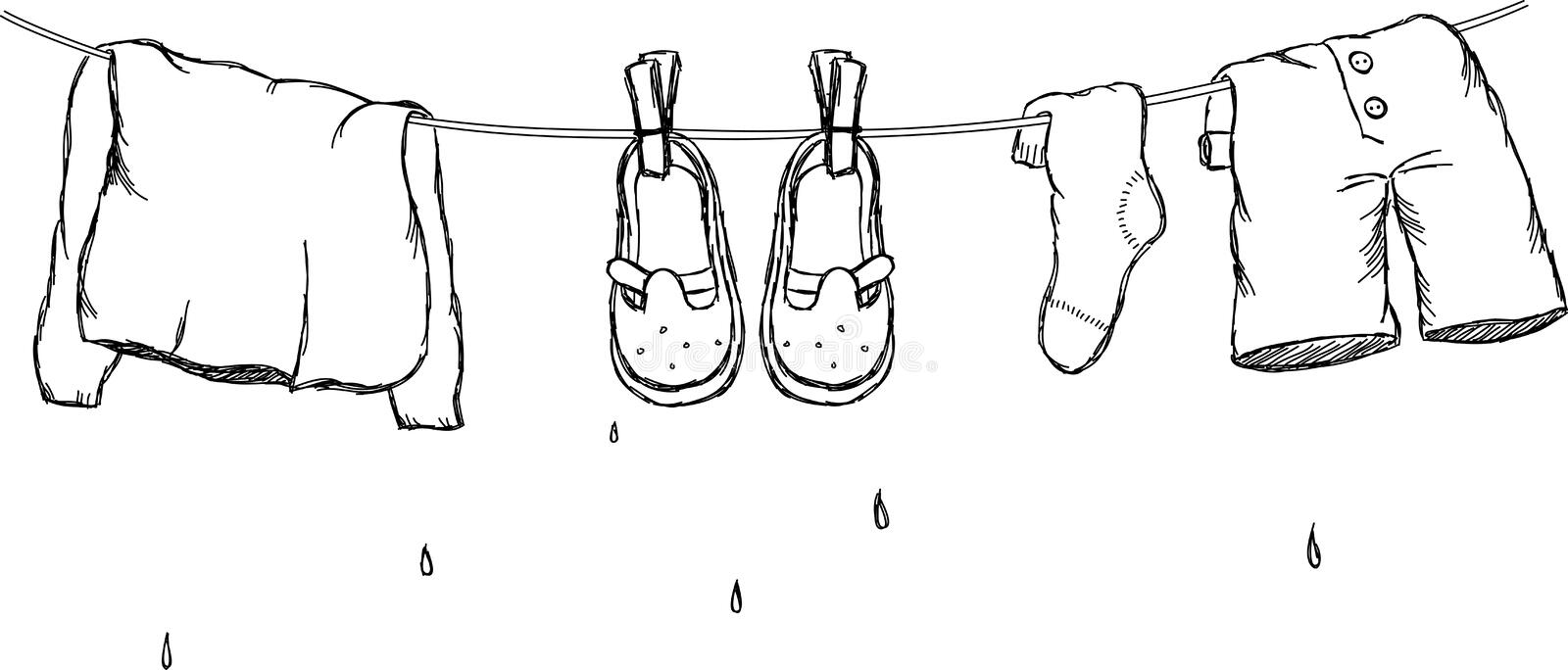 Laundry Outdoor Stock Illustrations – 340 Laundry Outdoor
