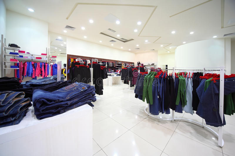 Download Clothes Hang In Shopping Center Stock Photo - Image: 20004440