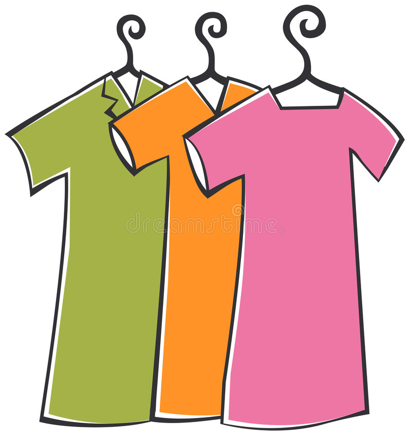 Download Clothes With Hanger Stock Illustration Of Closet
